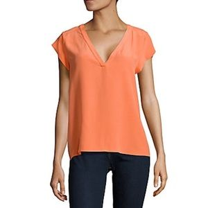 Joie Rubina Hot Coral Blouse Size Small